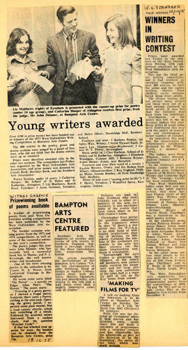 Young writers' competition organised by WOAA December 1975