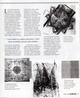 Magical motifs by Louise Watson; exhibition April 1998
