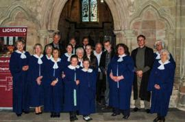 St Mary's choir sing Sung Evensong at Lichfield Cathedral April 18th 2015