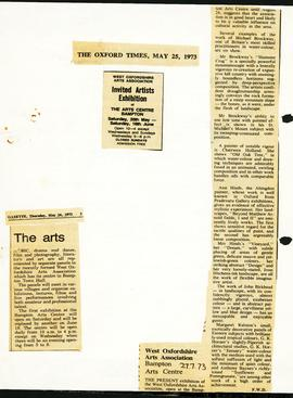 The beginnings of West Oxfordshire Arts Association WOAA 1973