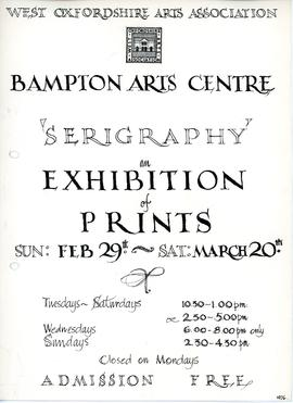 'Serigraphy' - an exhibition of prints Feb 29th to March 20th 1976