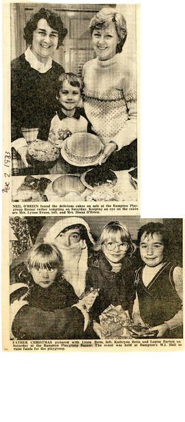 Playgroup Christmas Bazaar Dec 2nd 1983