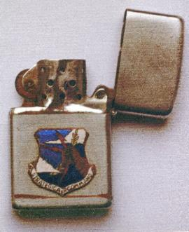 Lighter with the USAF 5th Air Force crest; it was in the Pacific from 1942.