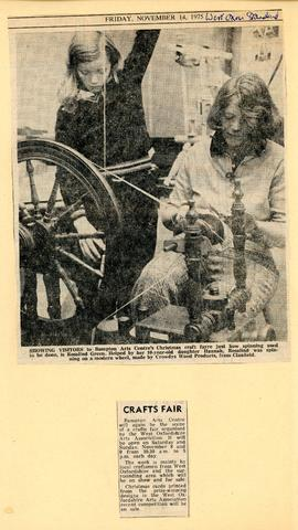 Christmas Craft Fair December 1975 - spinning
