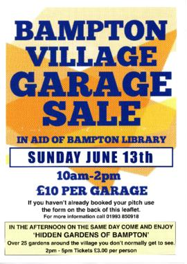 Village Garage Sale & Hidden Gardens 2021