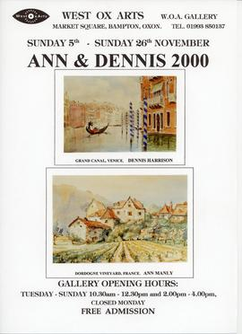 Ann Manly & Dennis Harrison exhibition November 2000