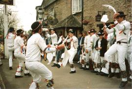 Bampton Traditional Morris Men, outside The Talbot