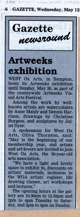 Artweeks Exhibition May 2004