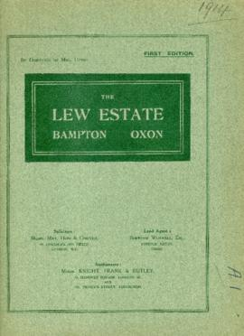 Sale brochure for The Lew Estate September 23rd 1914