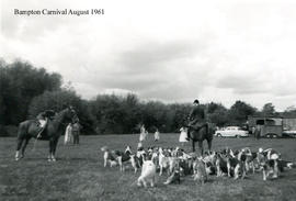 The hunt hounds being shown at Bampton Carnival 1961