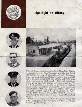 Poster for the Witney to Fairford railway line
