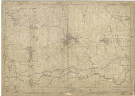 1922 map of Clanfield, Alvescot, Black Bourton, Grafton,  Bampton, Aston, Cote & Chimney