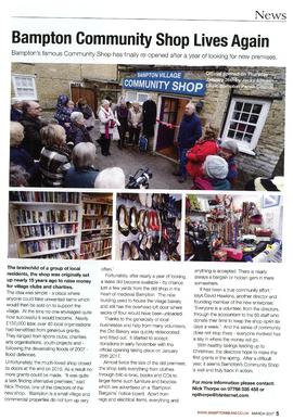 Bampton Community Shop re-opens in new premises