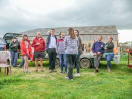 Choir BBQ at David and Sarah Jane New's farm in Black Bourton June 12th 2016