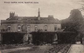 Picture postcard of Weald Manor addressed to Miss H Phillips, Stanton Harcourt January 17th 1908