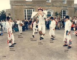 Bampton Traditional Morris Men dancing at Bampton House